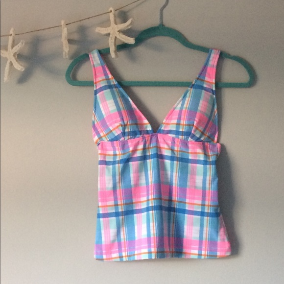 b838abc300094 New Vineyard Vines Madras Plaid Tankini Top XS